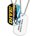 Personalized Swim Dive Dog Tag w/ Print on Back