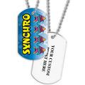 Personalized Swim Synchro Dog Tag w/ Print on Back