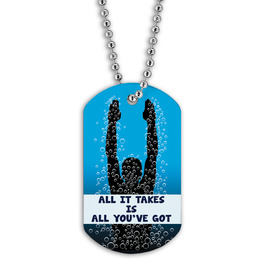 Full Color Swim All It Takes Dog Tag
