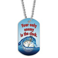 Full Color Swim Clock Dog Tag