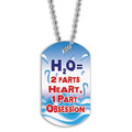 Full Color Swim H2O Dog Tag