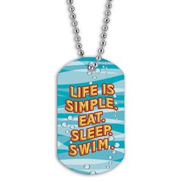 Full Color Swim Simple Dog Tag