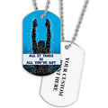 Personalized Swim All It Takes Dog Tag w/ Print on Back