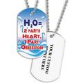 Personalized Swim H2O Dog Tag w Print on Back