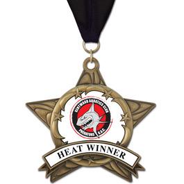 AS14 All Star Swim Award Medal w/ Grosgrain Neck Ribbon