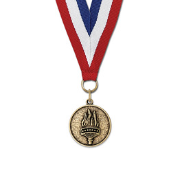 CX Swim Award Medal w/ Red/White/Blue or Year Grosgrain Neck Ribbon