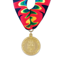 MC Swim Award Medal w/ Millennium Neck Ribbon