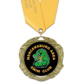 XBX Swim Award Medal w/ Satin Neck Ribbon