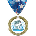 XBX Swim Award Medal w/ Millennium Neck Ribbon