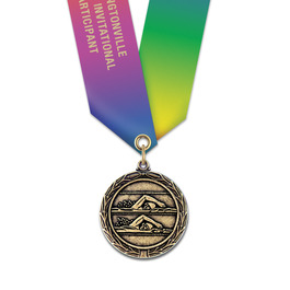 MX Medal w/ Specialty Satin Neck Ribbon