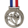 Atlas Swim Award Medal w/ Red/White/Blue Grosgrain Neck Ribbon