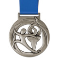 Atlas Swim Award Medal w/ Satin Neck Ribbon