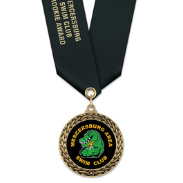 LFL Swim Award Medal w/ Satin Neck Ribbon
