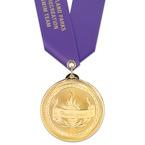 BL Swim Award Medal w/ Satin Neck Ribbon