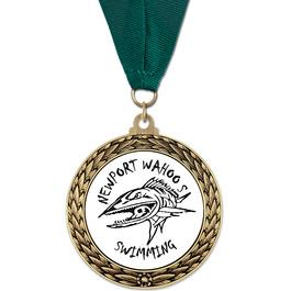 GFL Swim Award Medal w/ Grosgrain Neck Ribbon