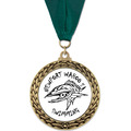 GFL Swim Award Medal w/ Grosgrain Neck Ribbon