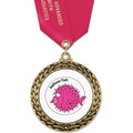 GFL Swim Award Medal w/ Satin Neck Ribbon
