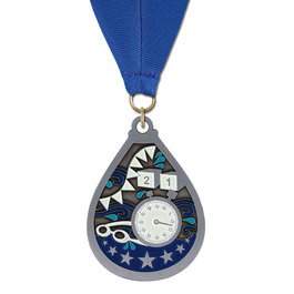 Superstar Award Medal w/ Grosgrain Neck Ribbon