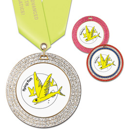 GEM Swim Award Medal w/ Satin Neck Ribbon