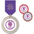 GEM Swim Award Medal w/ Satin Drape