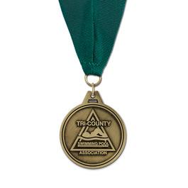 HL Swim Award Medal w/ Grosgrain Neck Ribbon
