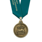 HL Swim Award Medal w/ Satin Neck Ribbon