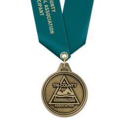 HL Swim Award Medal w/ Satin Neck Ribbon