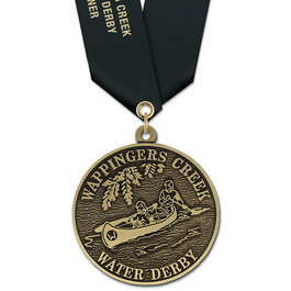 HS Swim Award Medal w/ Satin Neck Ribbon