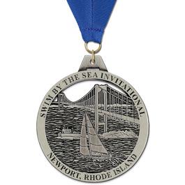 HH Swim Award Medal w/ Grosgrain Neck Ribbon