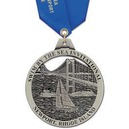 HH Swim Award Medal w/ Satin Neck Ribbon