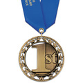 Rising Star Swim Award Medal with Satin Neck Ribbon