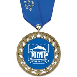 RS14 Swim Award Medal with Satin Neck Ribbon