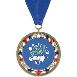 RSG Swim Award Medal with Grosgrain Neck Ribbon