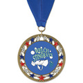 RSG Full Color Swim Award Medal with Grosgrain Neck Ribbon