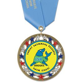 RSG Swim Award Medal with Satin Neck Ribbon