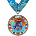RSG Full Color Swim Award Medal with Millennium Neck Ribbon