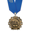 Ten Star Swim Award Medal with Satin Neck Ribbon