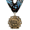 Ten Star Swim Award Medal with Millennium Neck Ribbon