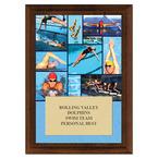 Swim Collage Award Plaque - Cherry Finish