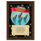 Synchronized Swimming Award Plaque - Cherry Finish
