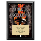 Athletic Excellence Swimming Award Plaque - Black