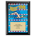 Best Time Swimming Award Plaque - Black