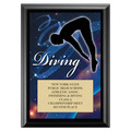 Diving Award Plaque - Black