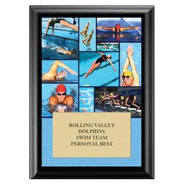 Swim Collage Award Plaque - Black