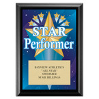 Star Performer Swimming Award Plaque - Black