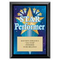 Star Performer Swimming Award Plaque - Black