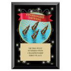 Synchronized Swimming Award Plaque - Black