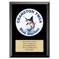 Full Color Custom Swimming Award Plaque - Black
