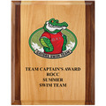 Full Color Red Alder and Walnut Swimming Award Plaque