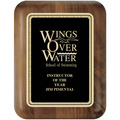Walnut Piano Swimming Award Plaque